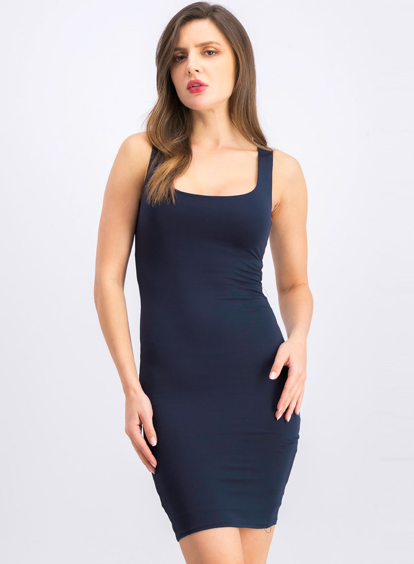Women's Plain Bodycon Dress, Navy