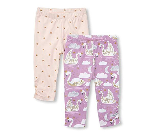 Baby Girl's Swan Legging, Pink/Purple