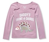 Toddler Girl's Long Sleeve Graphics Shirt, Purple