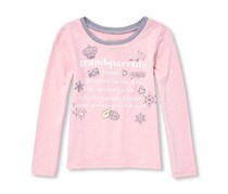 Baby Girl's Graphic T-Shirt, Pink