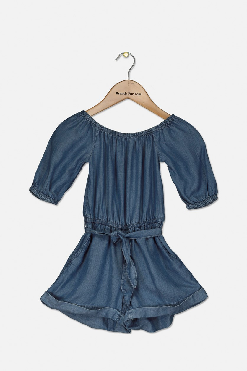 Kids Girl's Romper, Denim