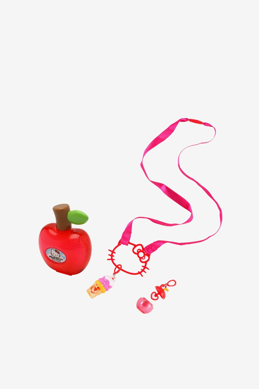 Imperial Bubble Charm Necklace, Pink/Red