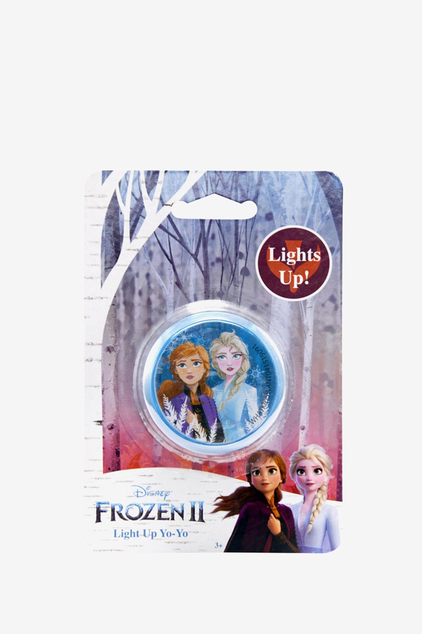 Girl's Frozen 2 Light Up Yo-Yo Toy With Queen Elsa and Princess Anna, Blue Combo
