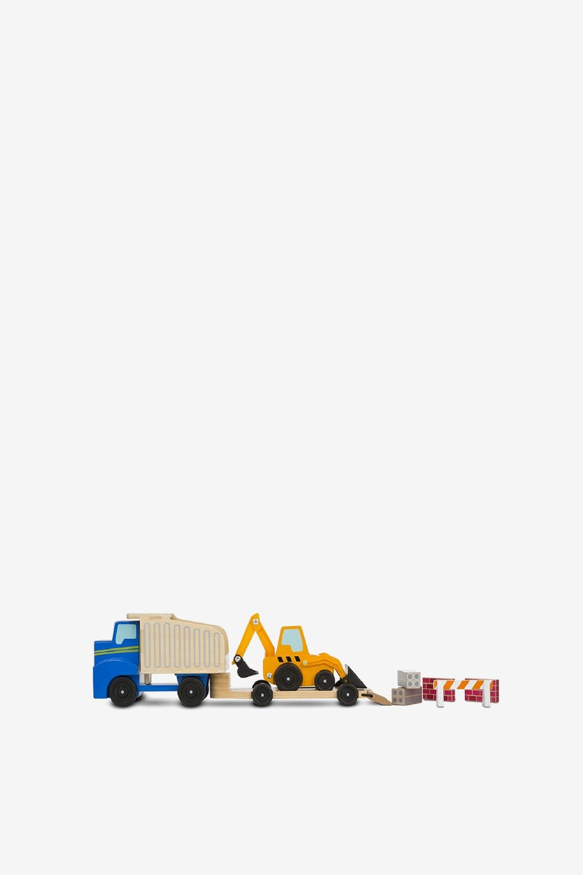 Dump Truck & Loader Classic Toy, Blue/Yellow
