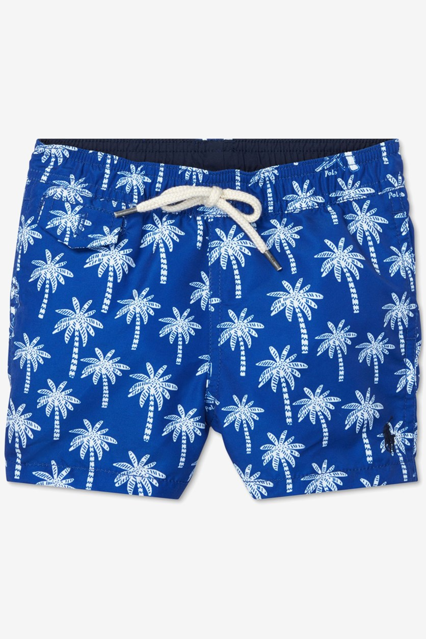 Baby Boys Traveler Polo Bear Swim Trunks, Blue