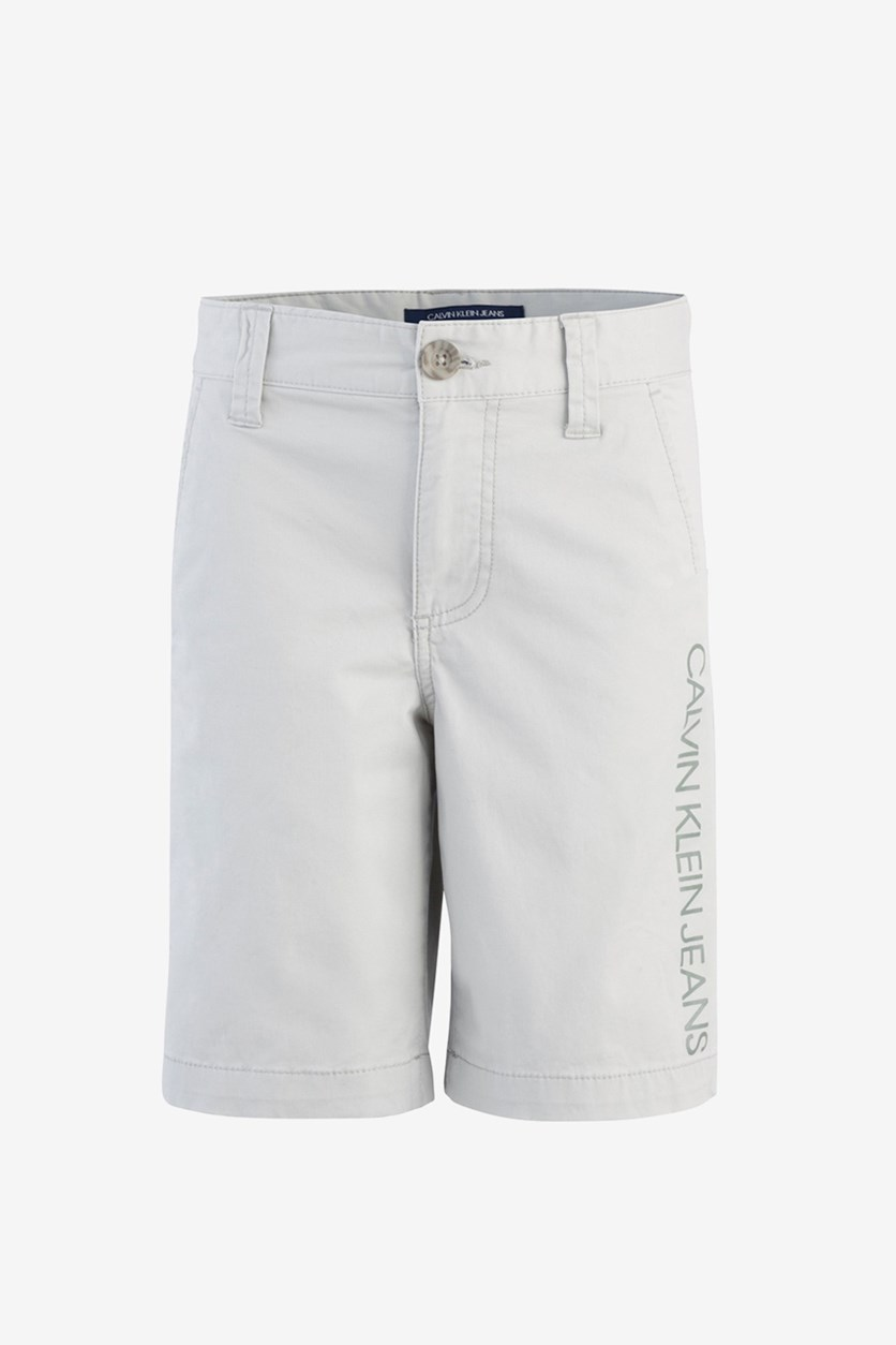 Big Boys Stretch Twill Shorts, Stone