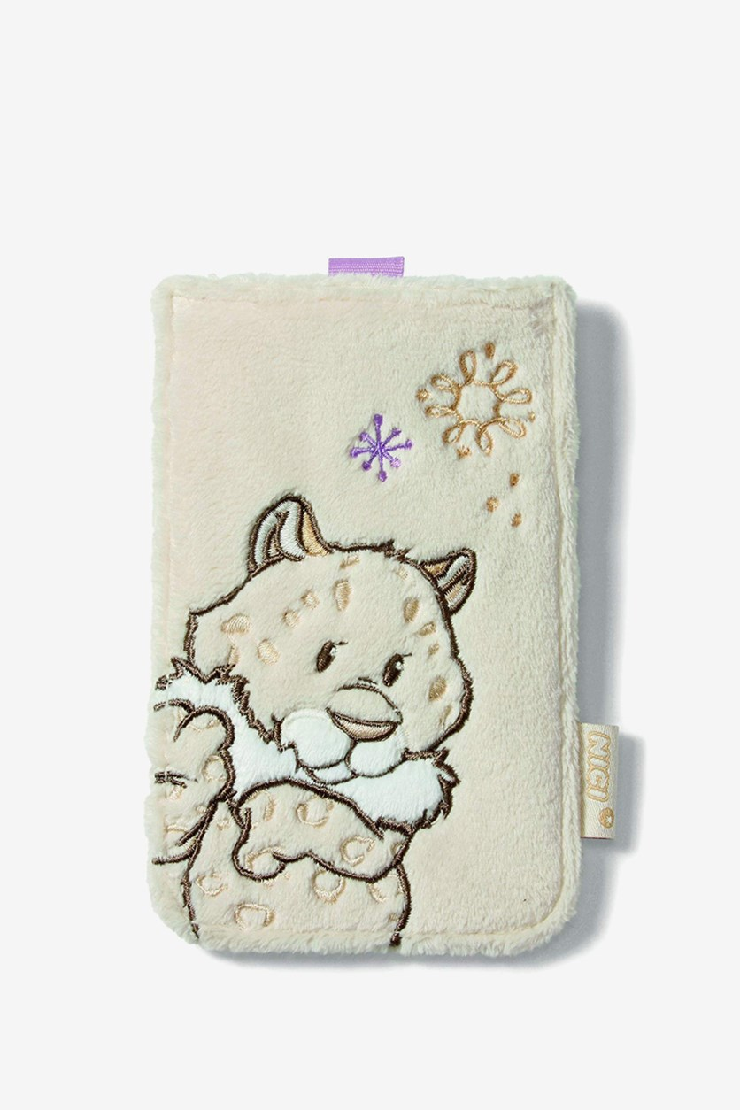 Mobile Phone Case Snow Leopard, white