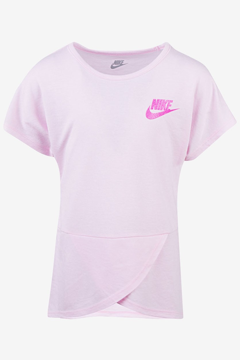 Little Girls Futura Crossover T-Shirt, Pink Foam