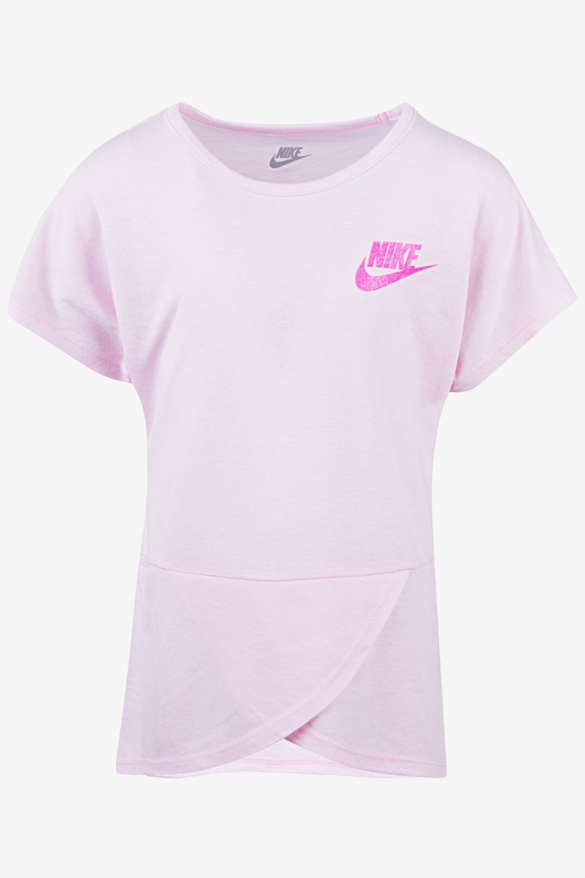 Girls Futura Crossover T-Shirt, Pink Foam