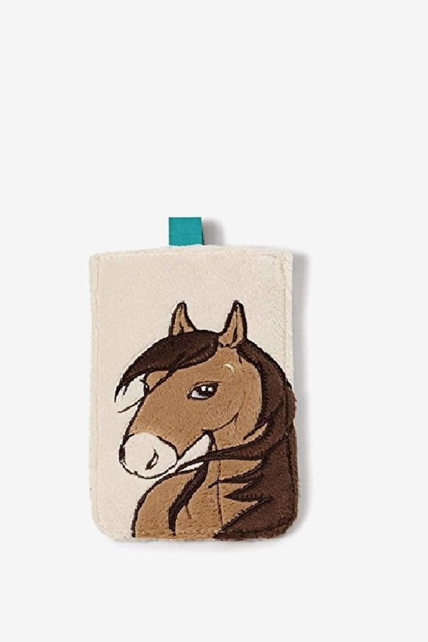 Mobile Phone Cover Horse Moon, Off White/Brown