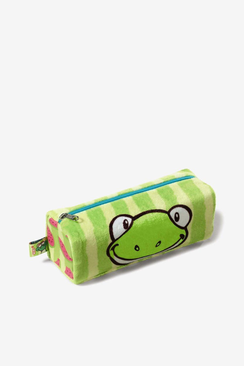 Pencil Case Frog Plush, Green