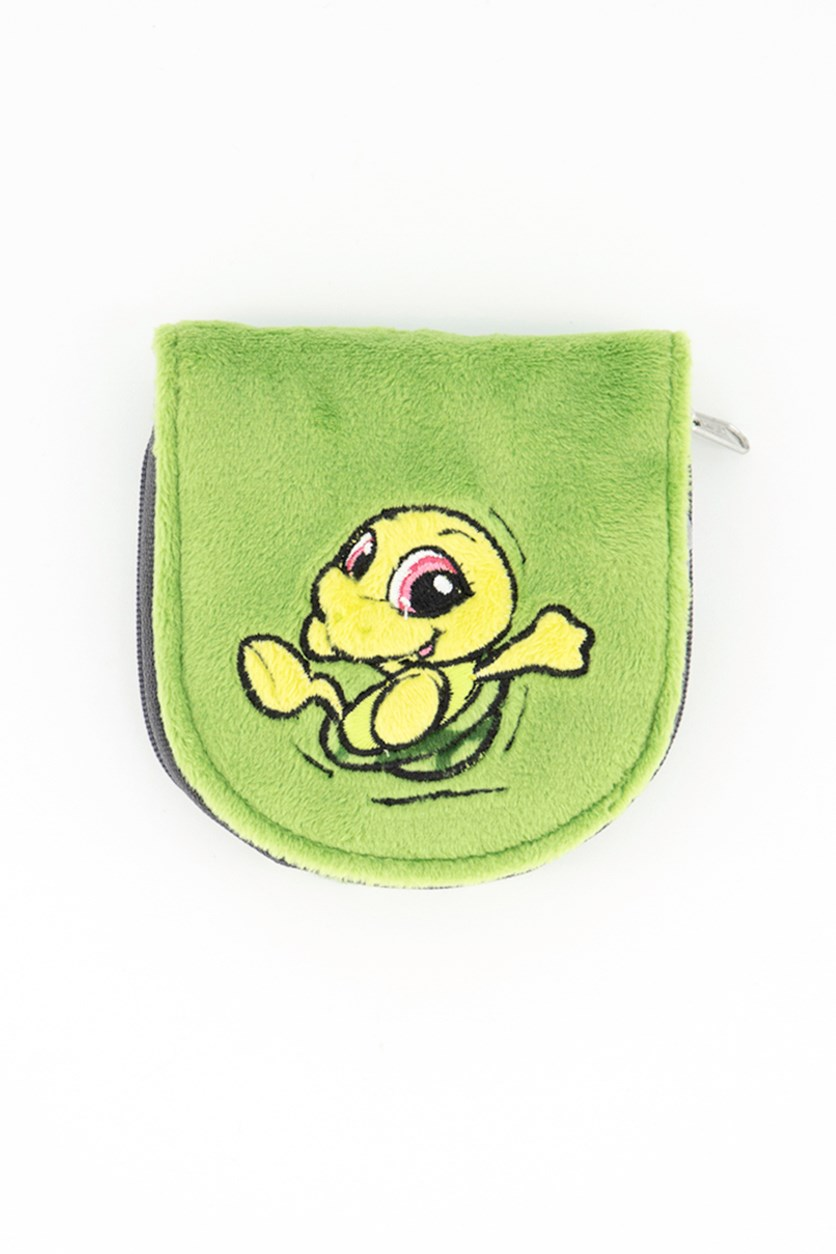 Cute Turtle Print  Coin Purse, Green