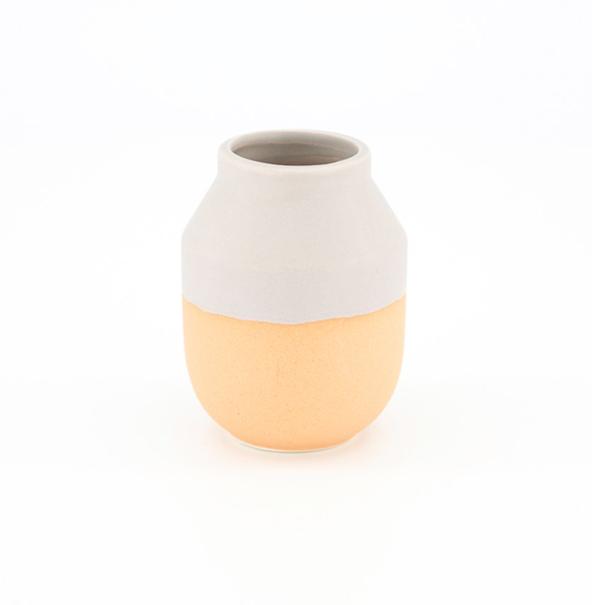 Vase Nela, Orange/Gray