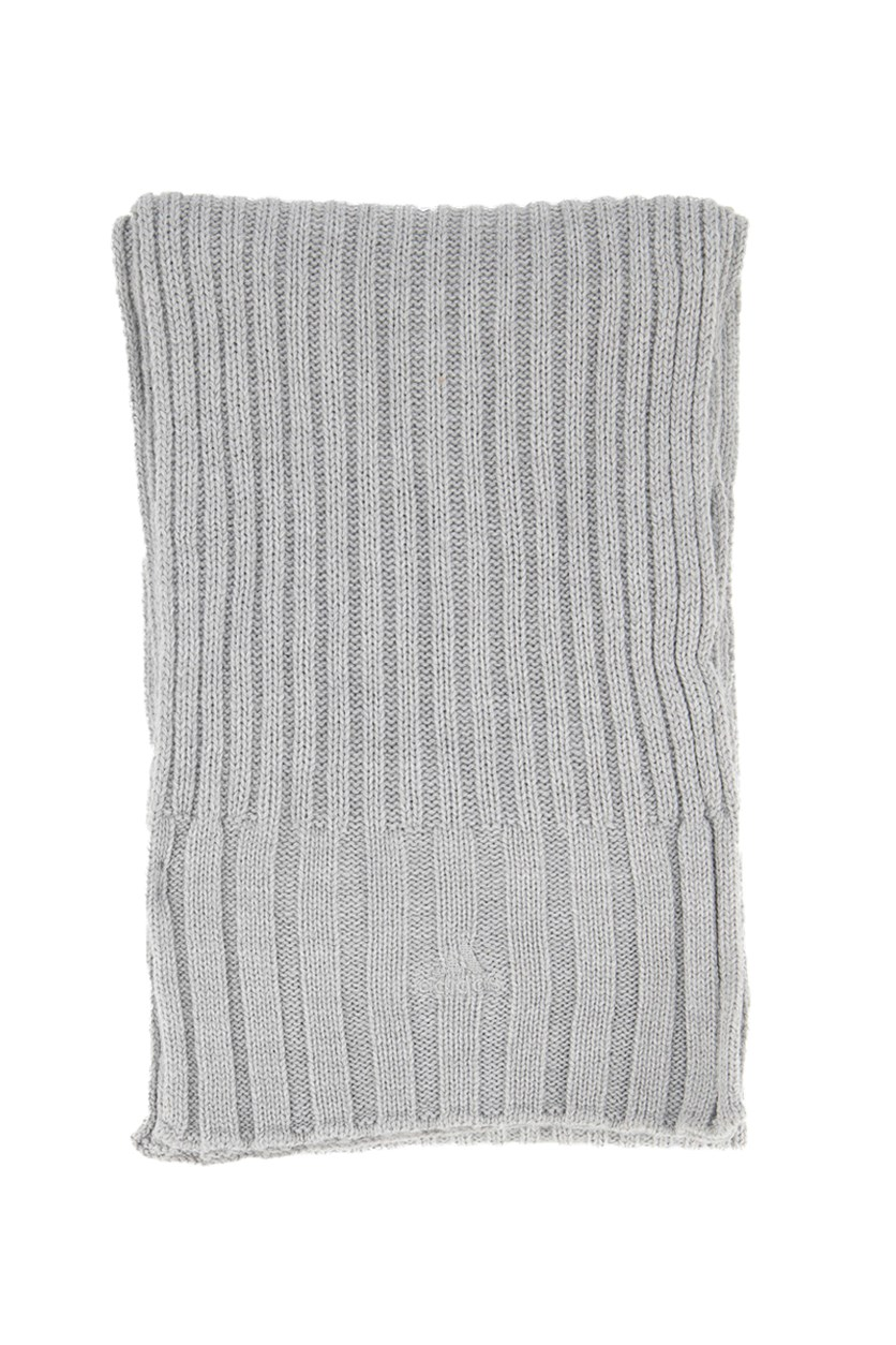 Women's ESS Textured Scarf, Grey