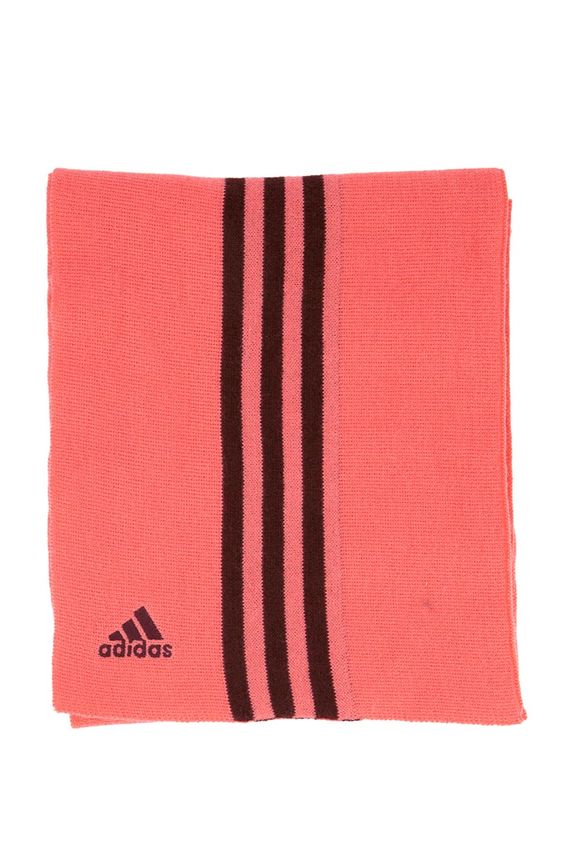 ESS Three Striped Scarf, Pink/Maroon