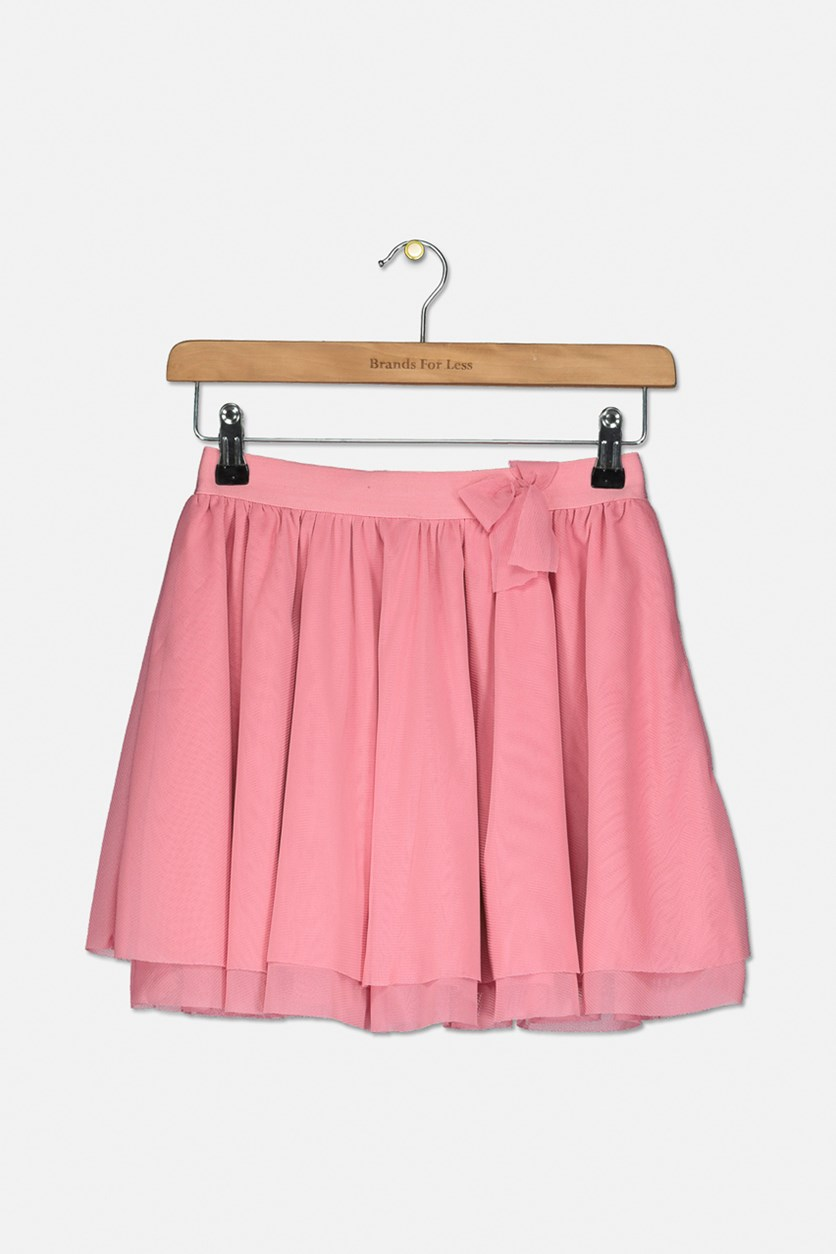 Big Girls Ruffle Lace Skirt, Pink