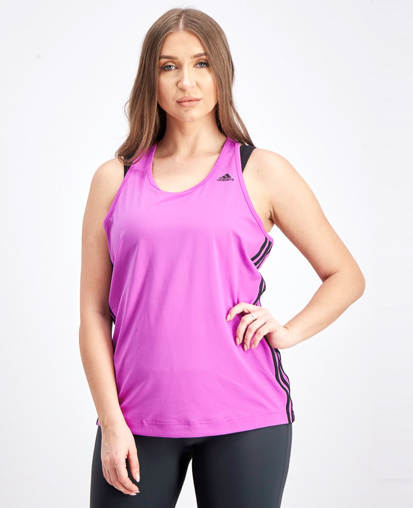 Women's Basic 3S Tank Damen Fitness Tanktop, Purple/Black