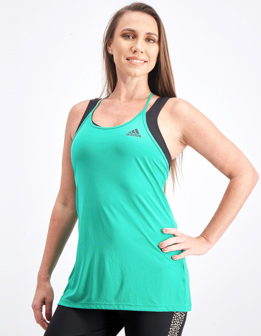 Women's Performance Step Up Tank, Green
