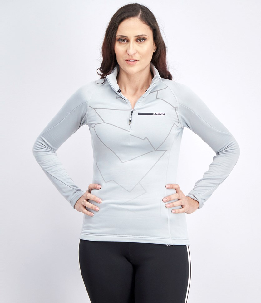 Women's Terrex Icesky Longsleeve Shirt, Light Grey
