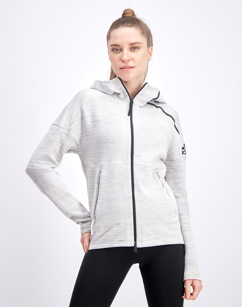 Women's Z.N.E Zip Through Hoodie, Grey