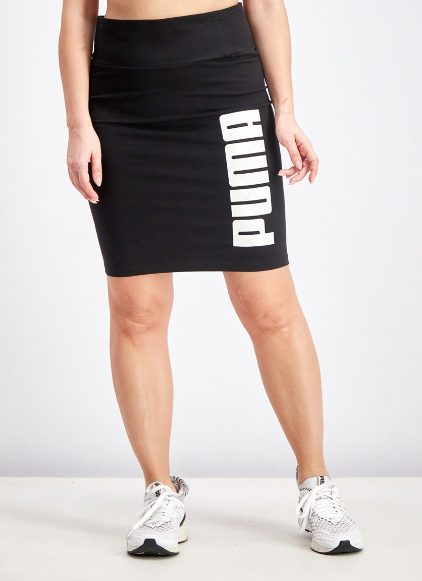 Women's Pencil Skirt, Black/Silver