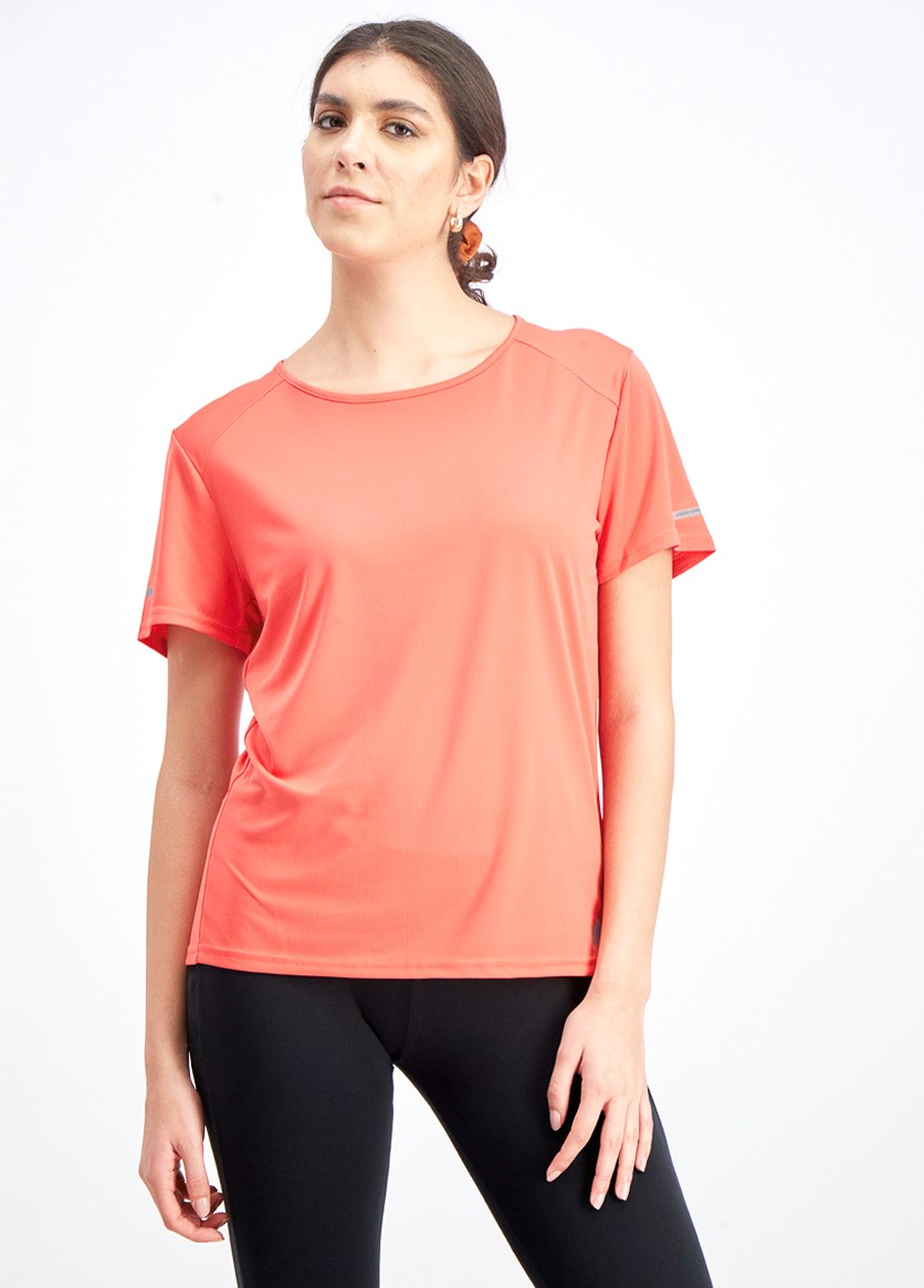 Women's Running Short Sleeve T-shirt, Orange