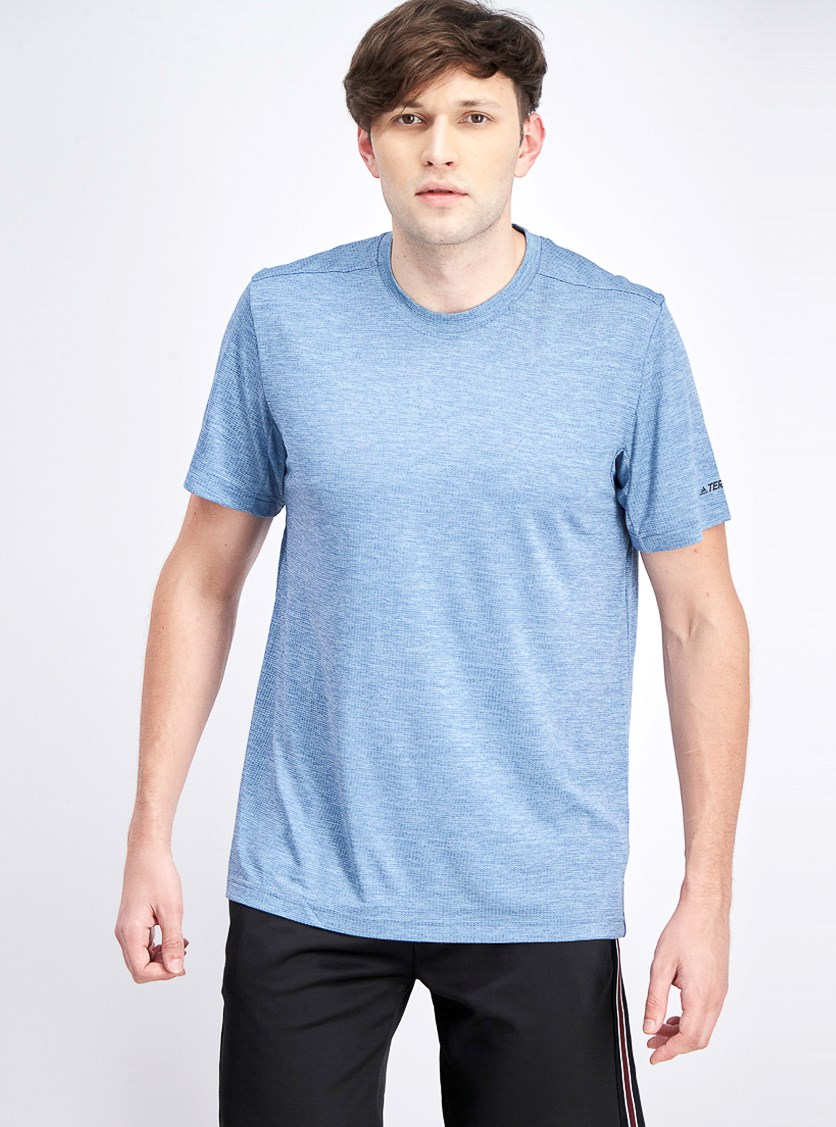 Mens Short Sleeve Shirt, Light Blue