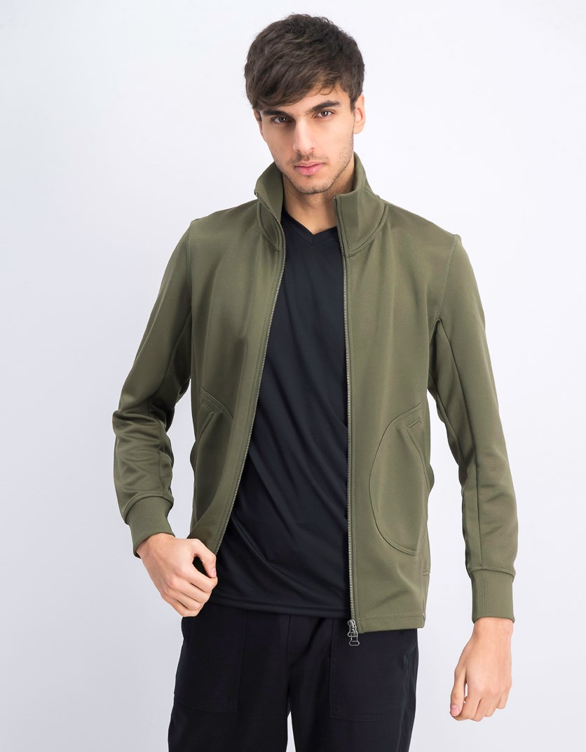 Men's Sports Full Zip Jacket, Olive