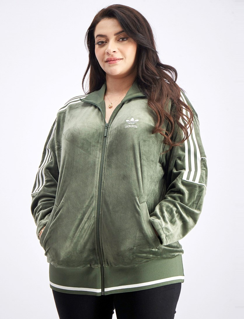 Women's Track Jacket, Olive Green