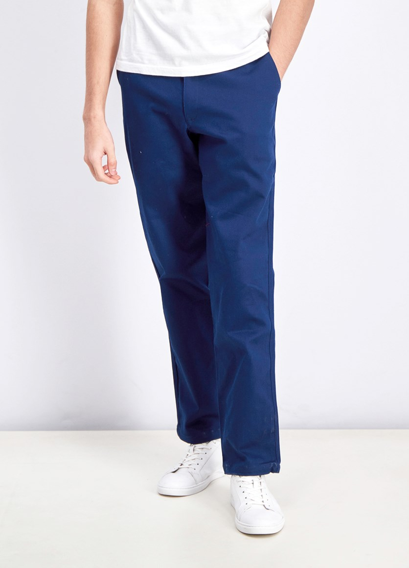 Men's Striped Chino Pants, Collegiate Navy