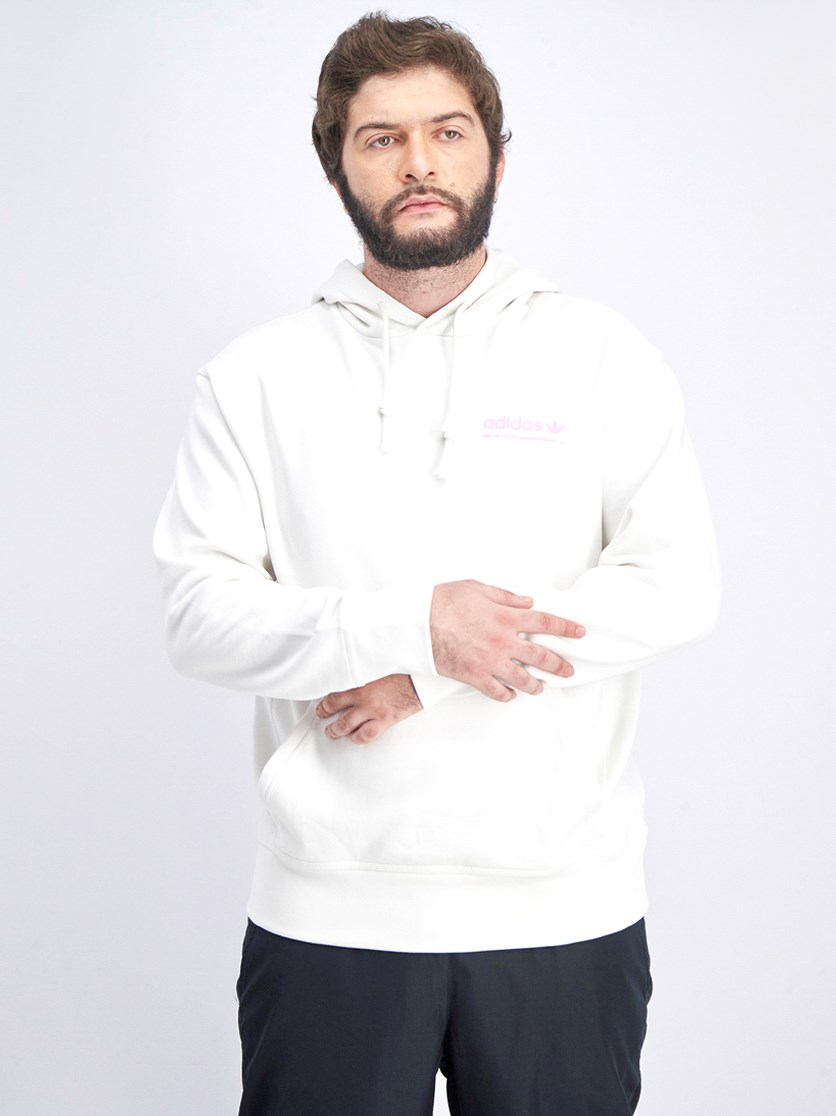 Men's Pullover Hoodie Jacket, Cream