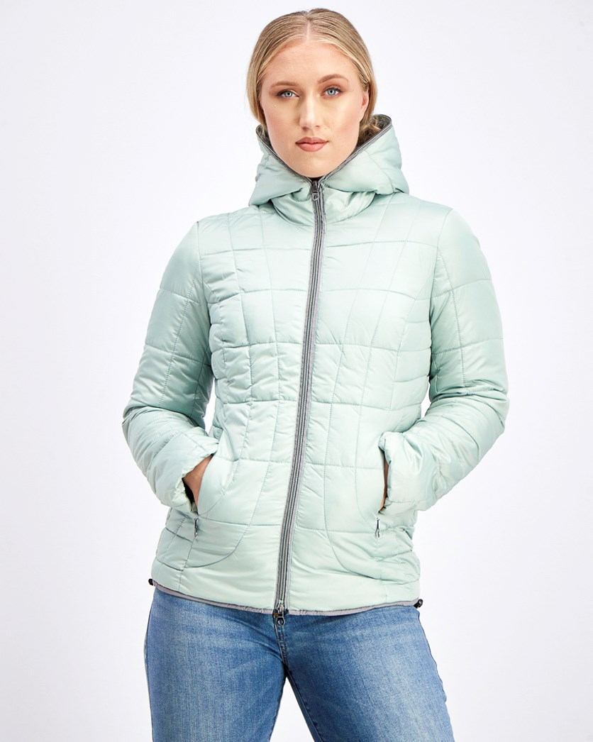 Women's Hoodie Jacket, Light Green