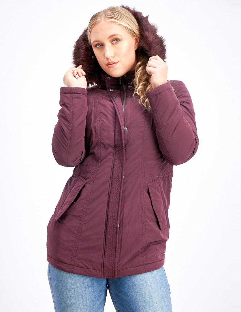 Women's Faux Hoodie Jacket, Purple