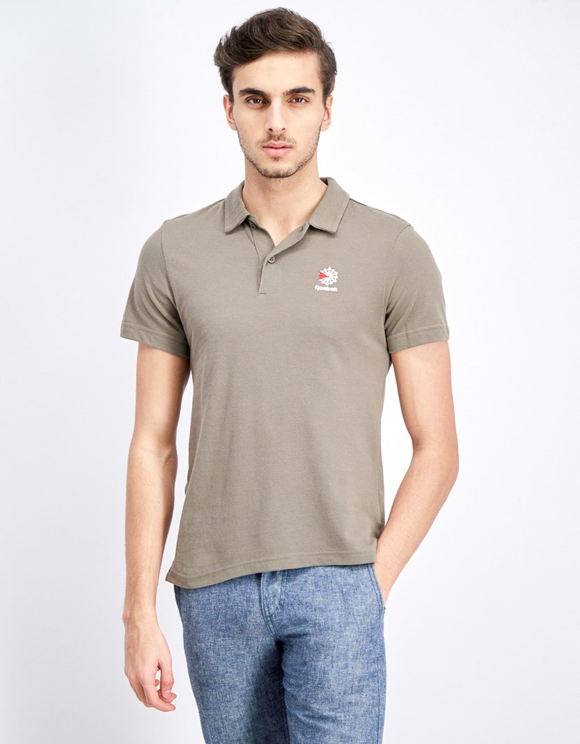 Men Short Sleeve Polo, Taupe