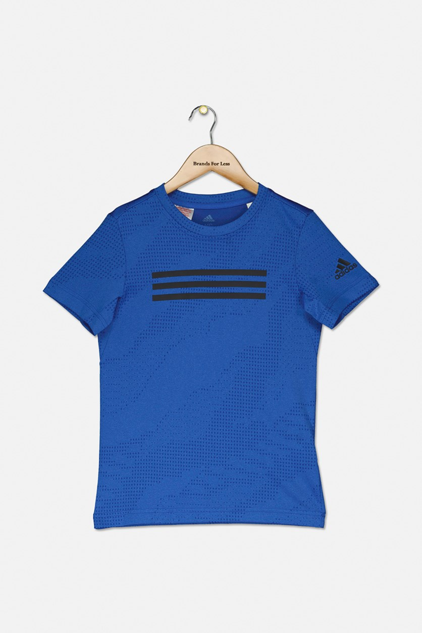Boy's Climalite Training Tee Shirt, Blue