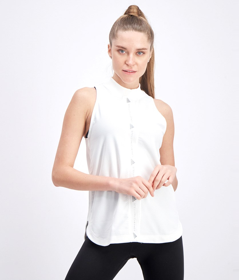 Women's Train Mesh Tank, White