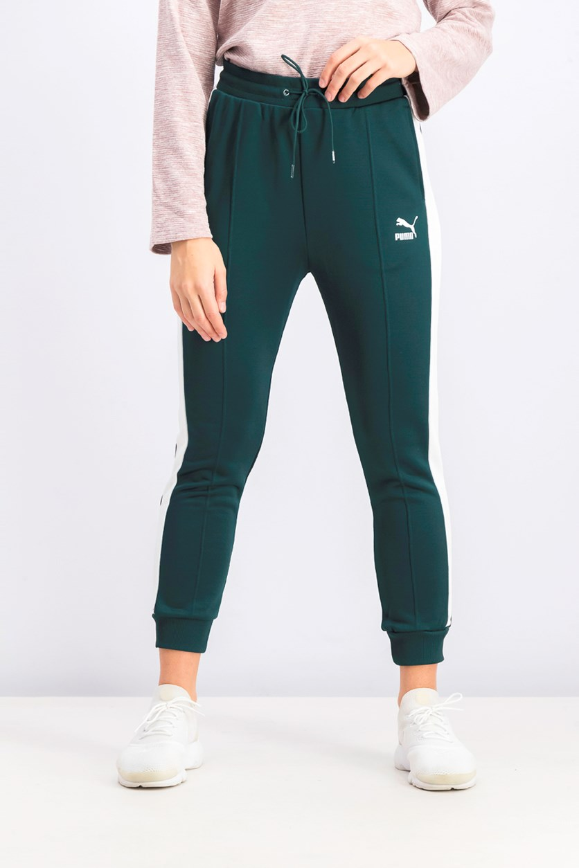 Women's Drawstring Classic T7 Track Pants, Green