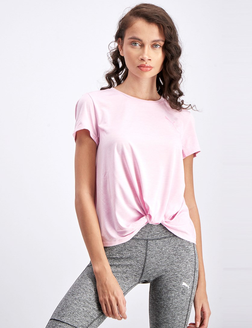 Women's Dry Cell Tee, Heather Pink