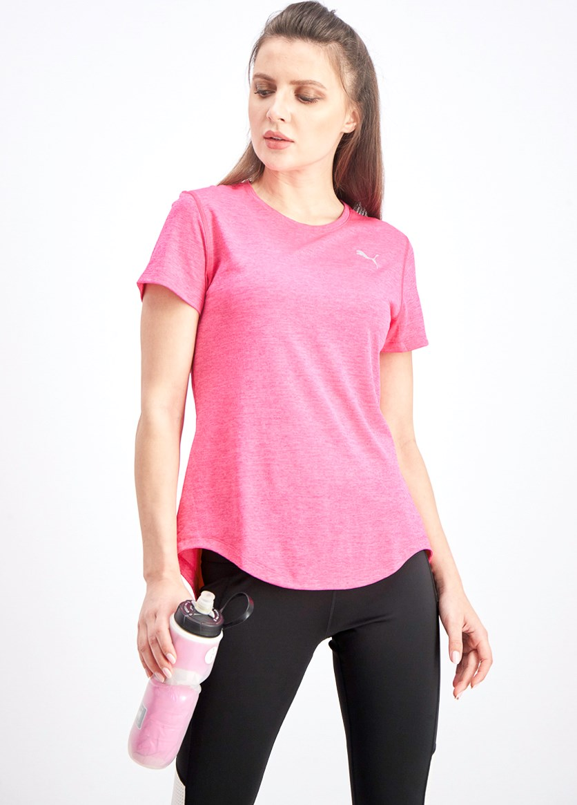 Women's Epic Heather T-Shirt, Fuchsia Purple