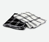 2 PC Dishcloth, Black/White
