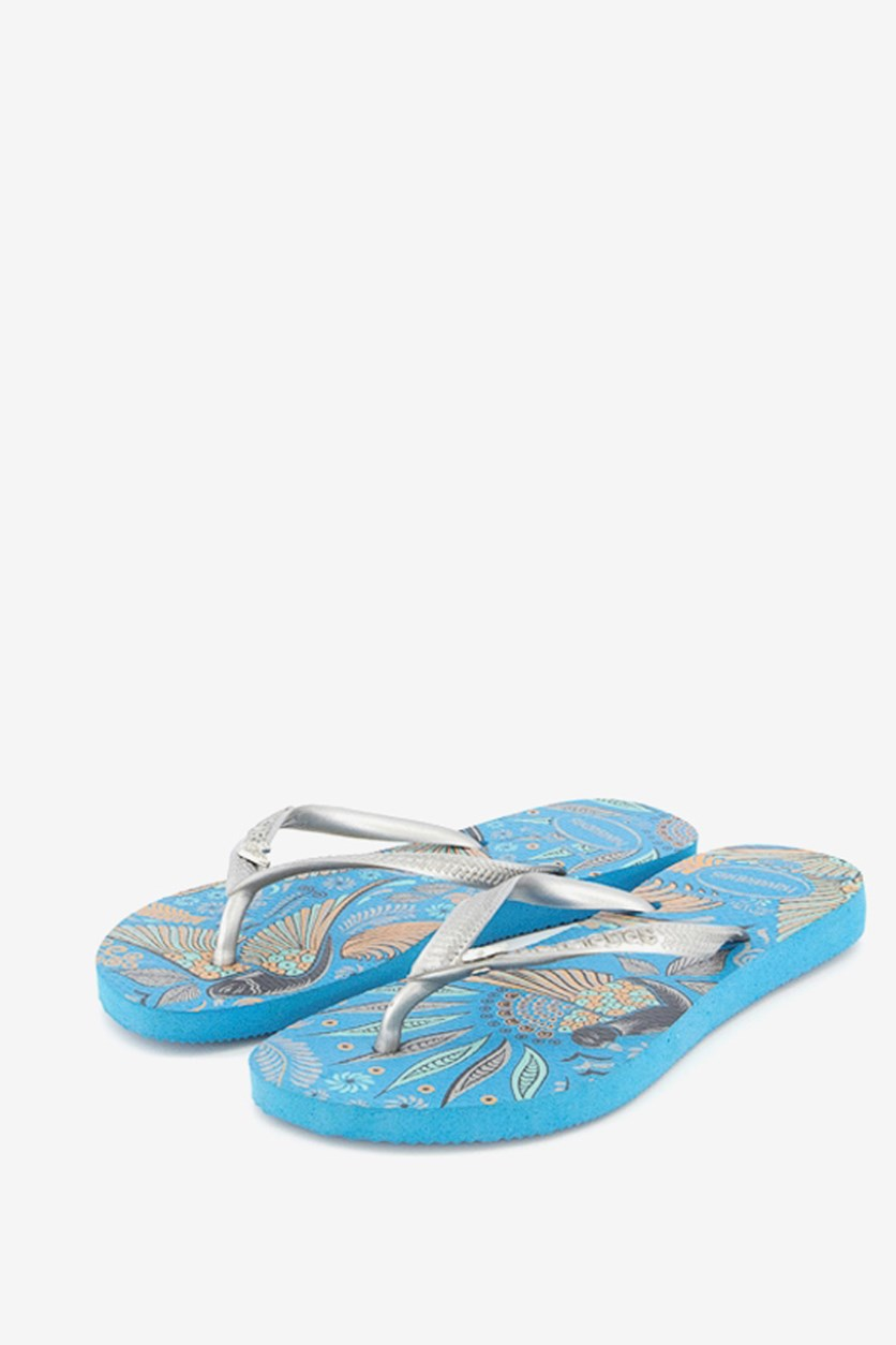 Kid's Slim Royal Sandal Style 2, Turquoise