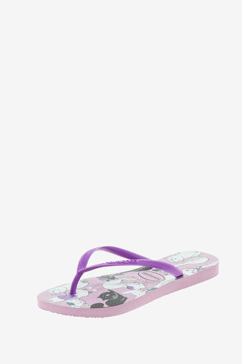 Girls' Pets- Print Slim Slippers, Rose Quartz