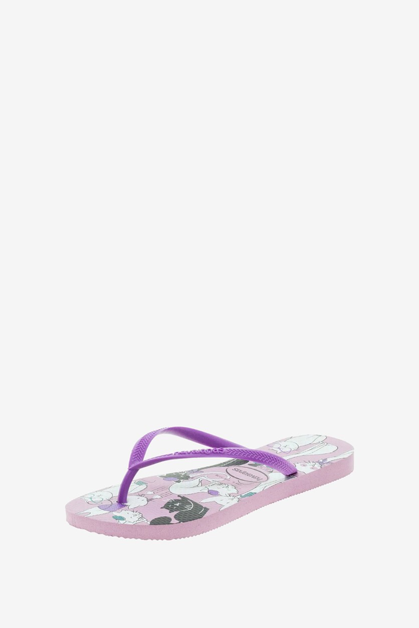 Women's Slim Pets Pink Hawaiian Slipper, Rose Quartz