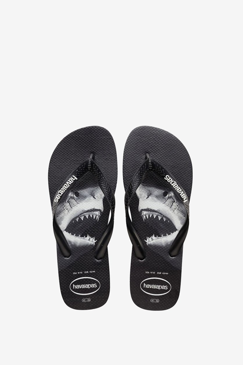 Men's Havaianas Top Photoprint Flip Flop, Black