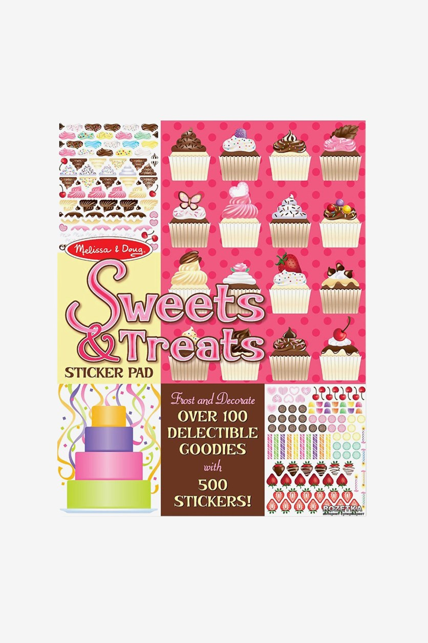 Sweets & Treats Sticker Pad, Pink/Yellow