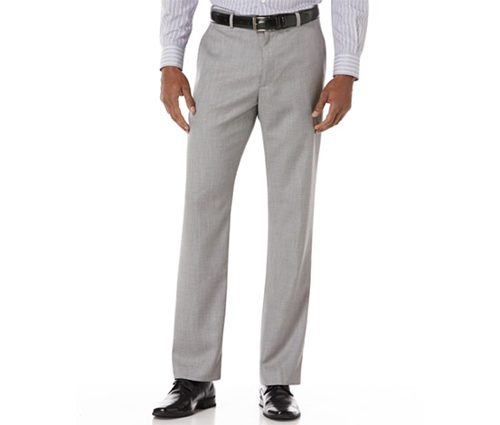 Men's Big-Tall Texture PVL Suit Pant, Grey