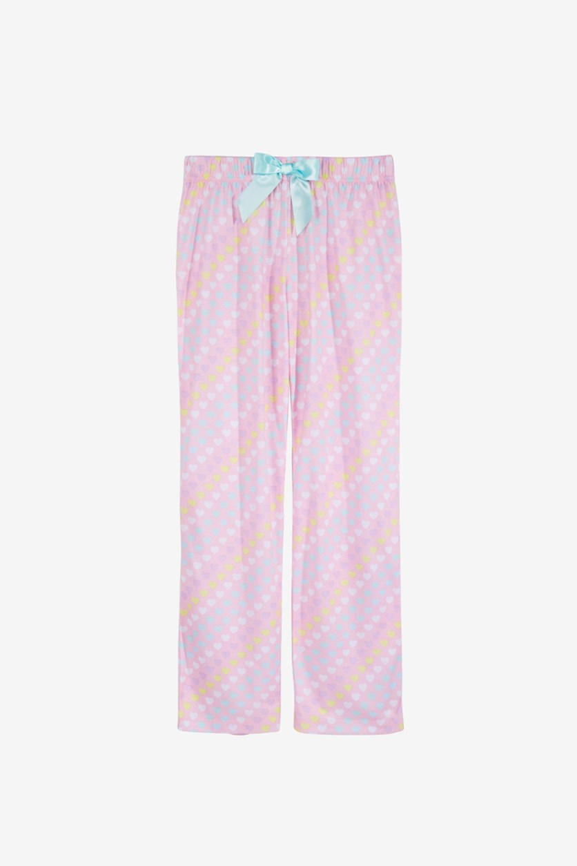 Big Girls Printed Pajama Pants, Pink