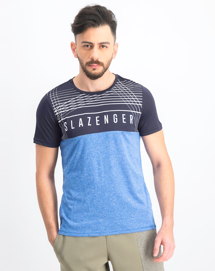 Men's Karl Short Sleeve T-Shirt, Blue Marl