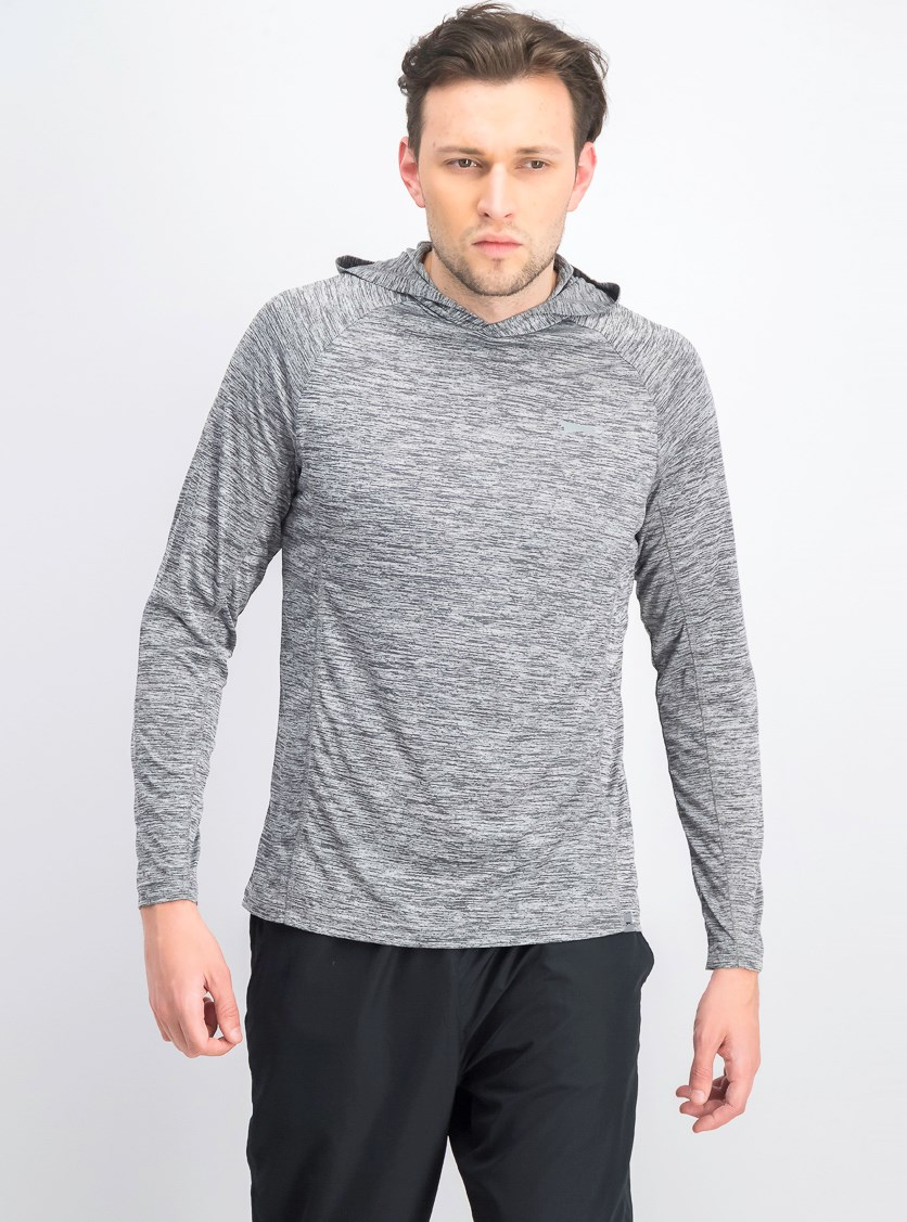 Men's Space Dye Hoodie, Gray Space Dye