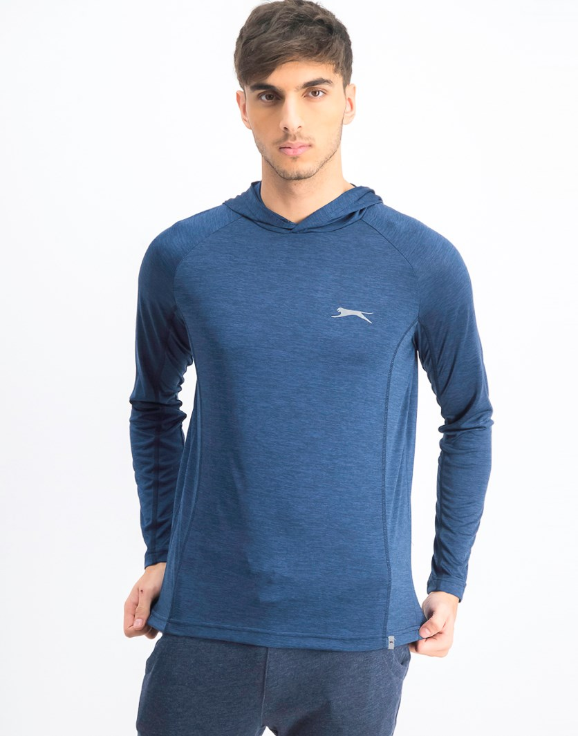 Men's Space Dye Hoodie, Navy Combo